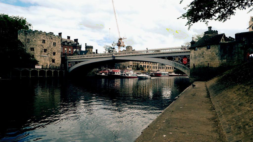 Lendal Tower, Lendal Bridge and Barker Tower York River Ouse Walk