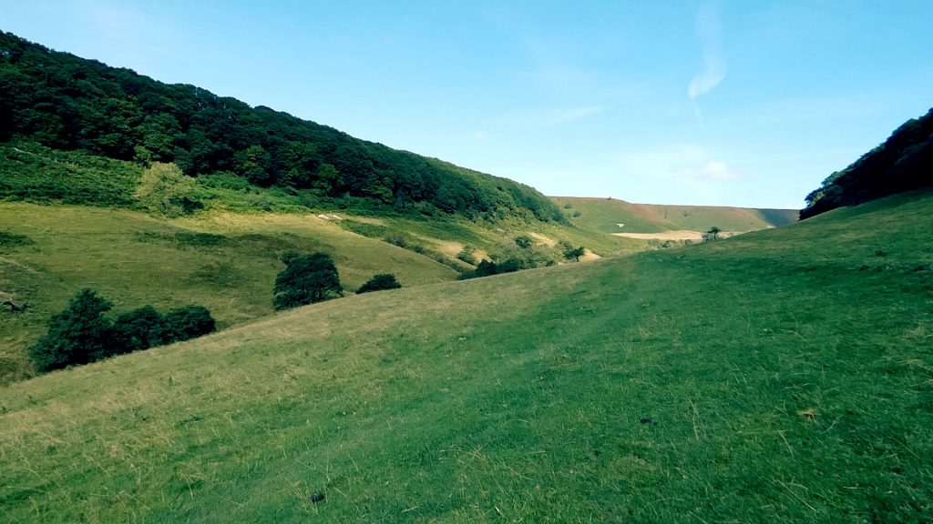 Looking up the valley Hole of Horcum