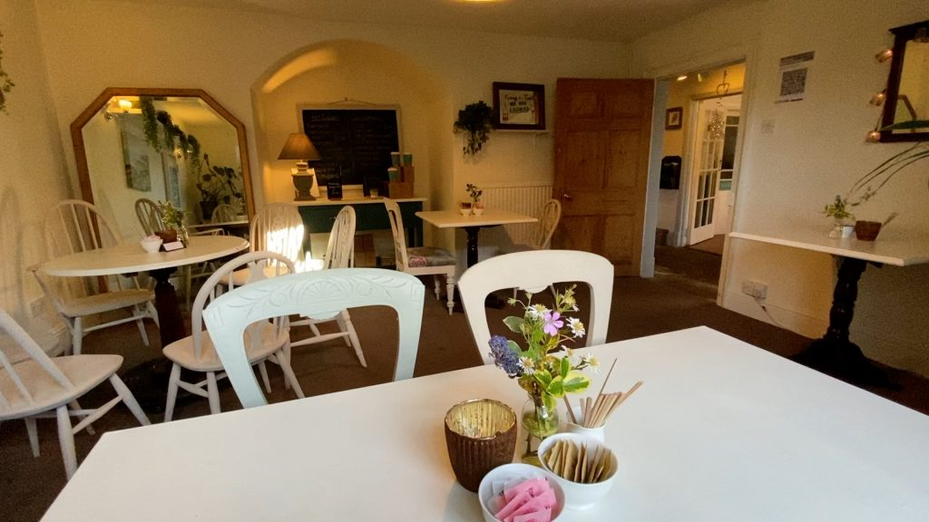 A very cosy tearoom at Coxwold